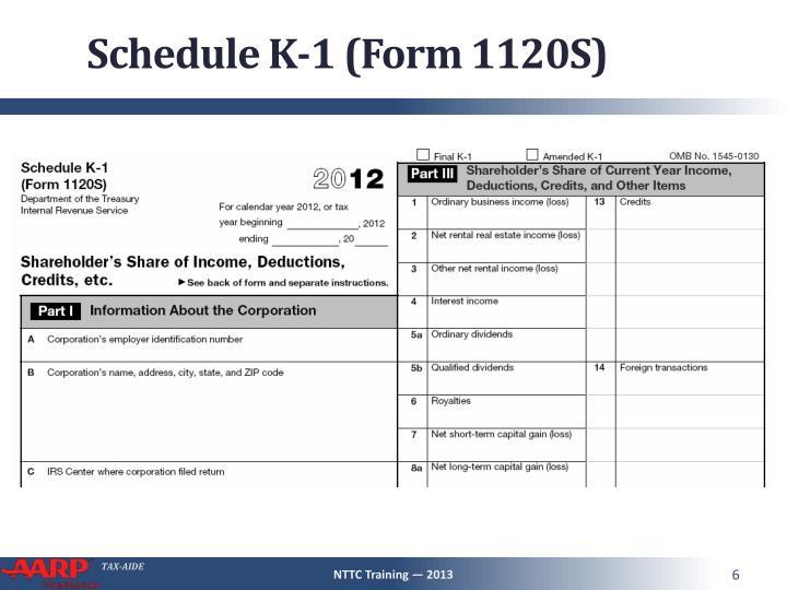 Schedule K-1 (Form 1120S)