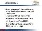 schedule k 11