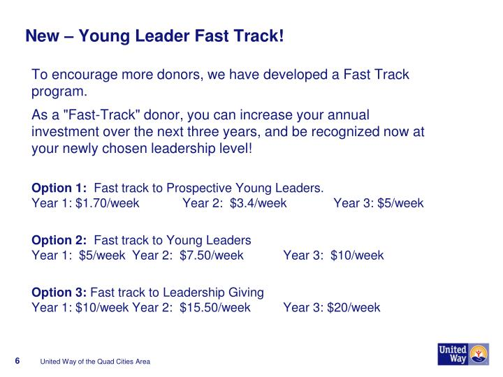 New – Young Leader Fast Track!