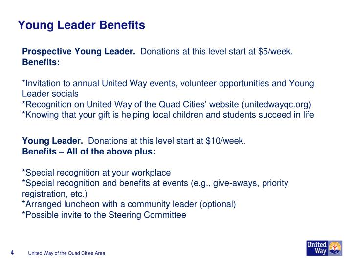 Young Leader Benefits