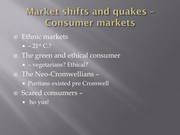 Market shifts and quakes –