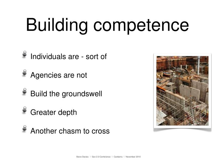 Building competence