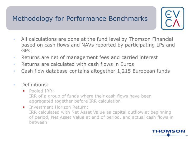 Methodology for Performance Benchmarks