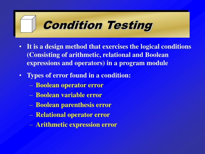 Condition Testing