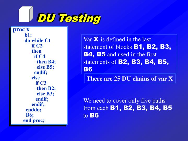 DU Testing