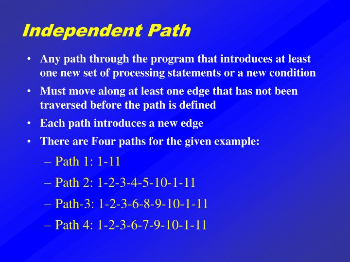 Independent Path