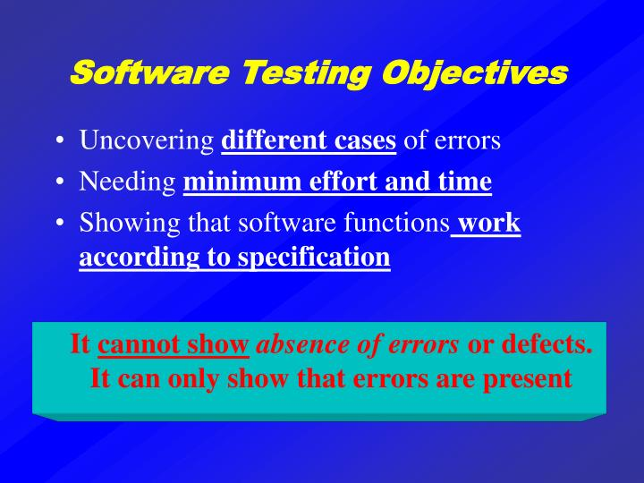 Software Testing Objectives