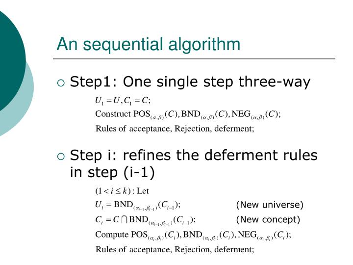 An sequential algorithm