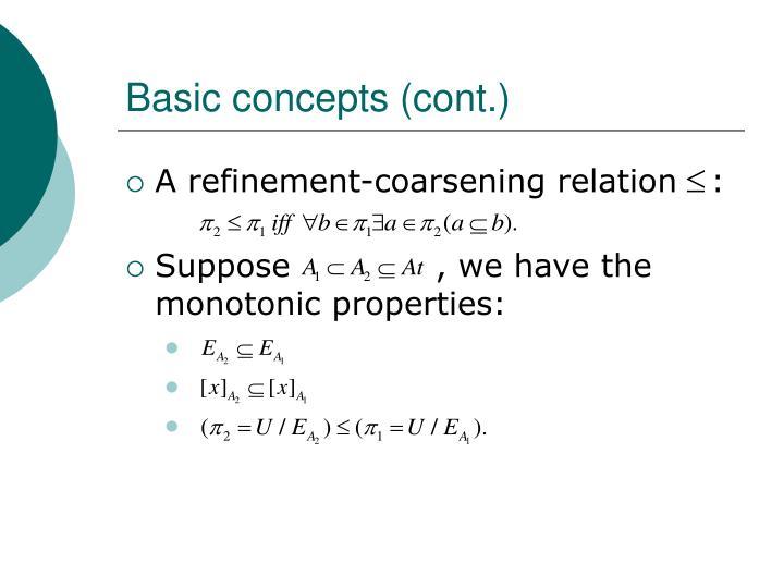 Basic concepts (cont.)