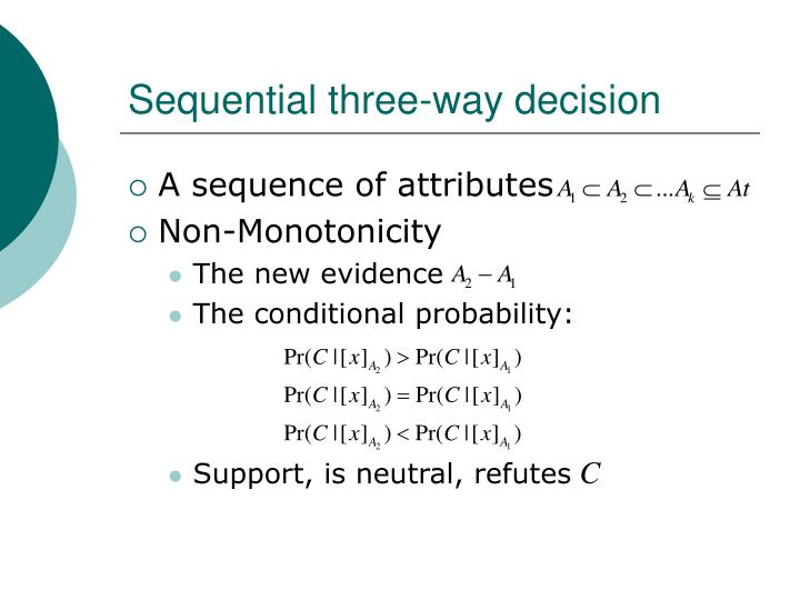 Sequential three-way decision