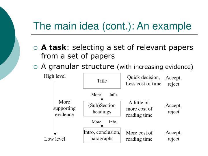 The main idea (cont.): An example