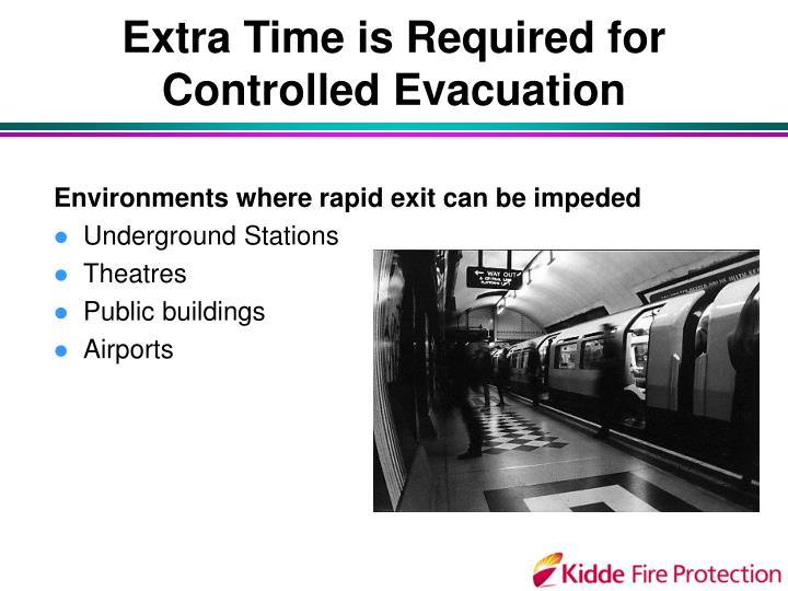 Extra Time is Required for Controlled Evacuation
