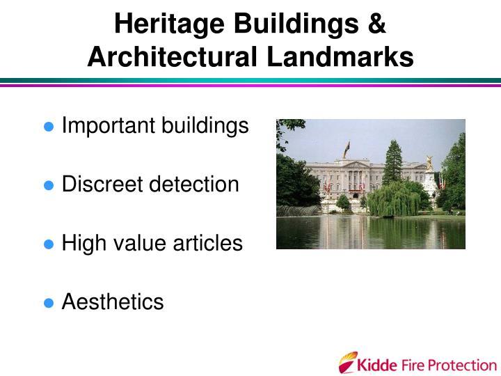 Heritage Buildings &