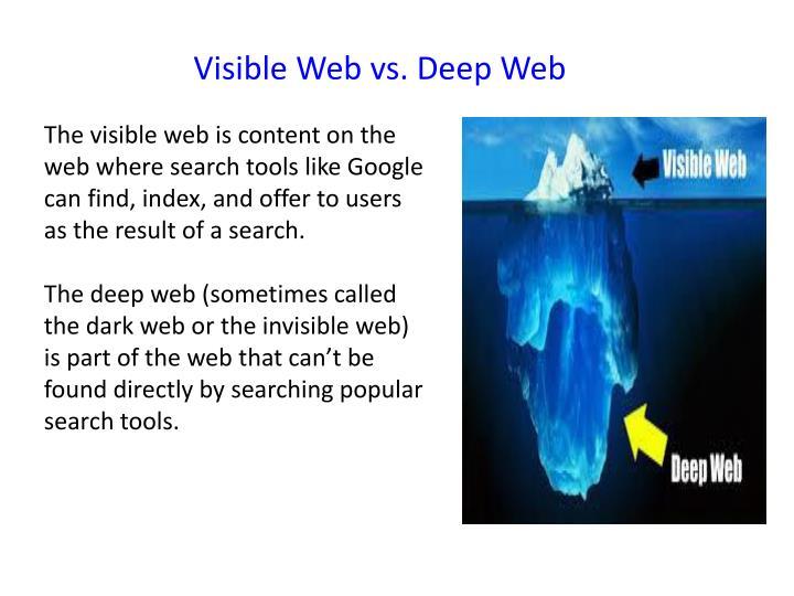 Visible Web vs. Deep Web