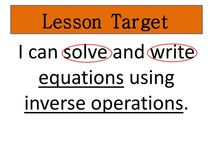 Lesson Target