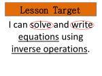 lesson target