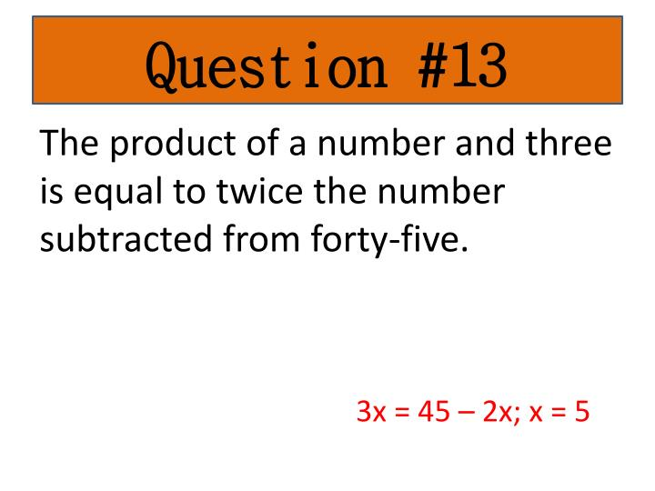 Question #13