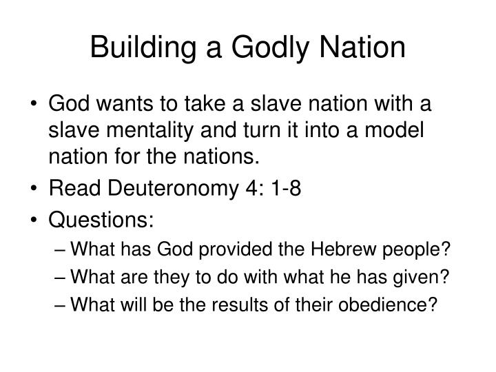 Building a Godly Nation