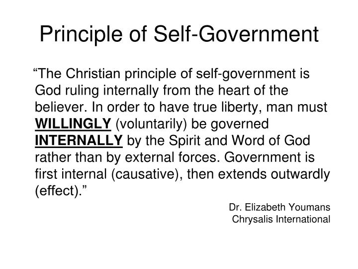 Principle of Self-Government