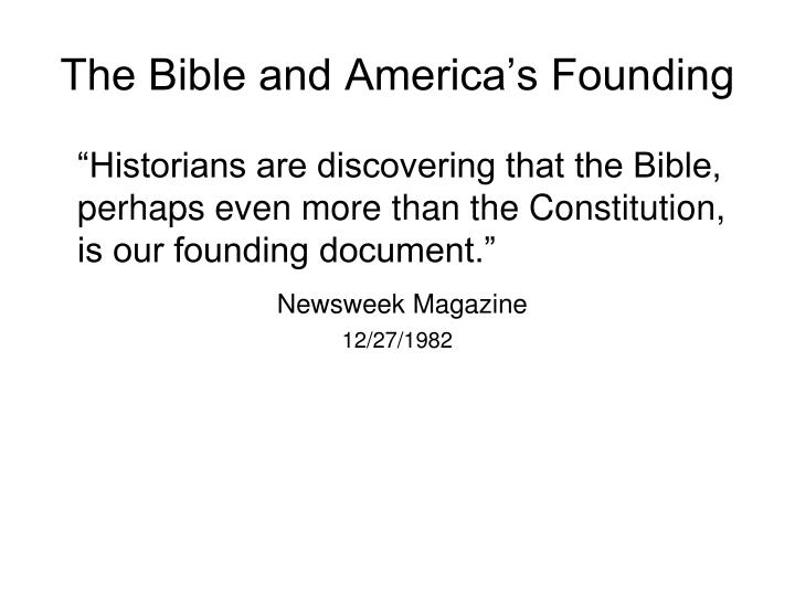 The Bible and America's Founding