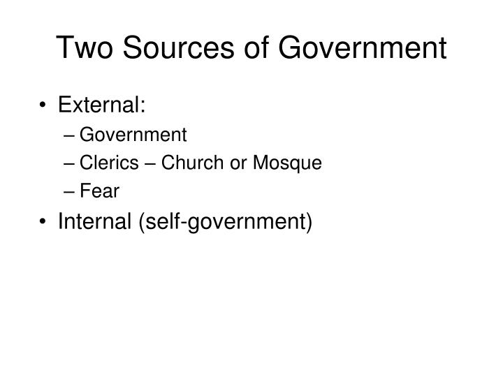 Two Sources of Government