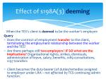 effect of s198a 3 deeming