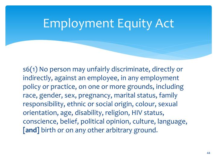 Employment Equity Act