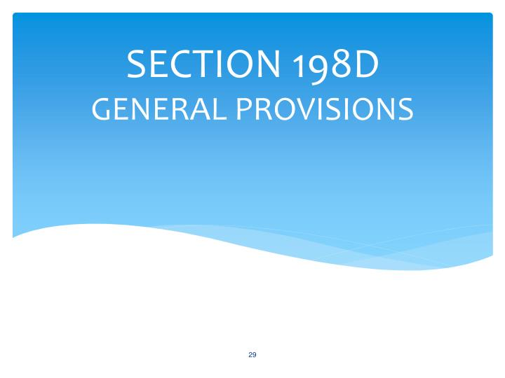 SECTION 198D