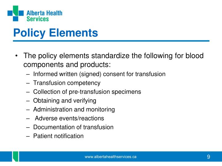 Policy Elements