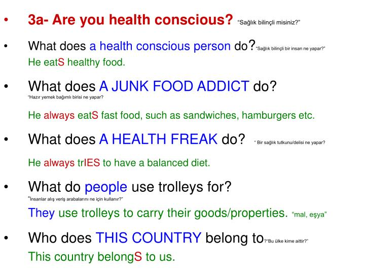 3a- Are you health conscious?