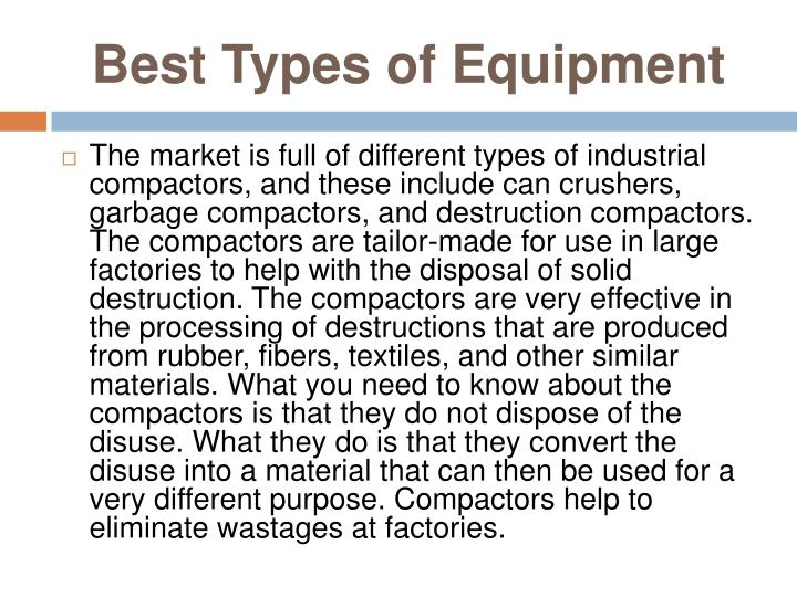 Best Types of Equipment
