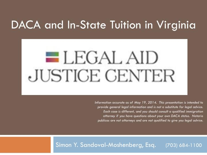 DACA and In-State Tuition in Virginia