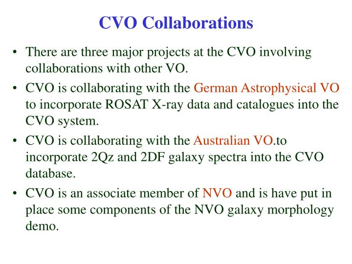 CVO Collaborations