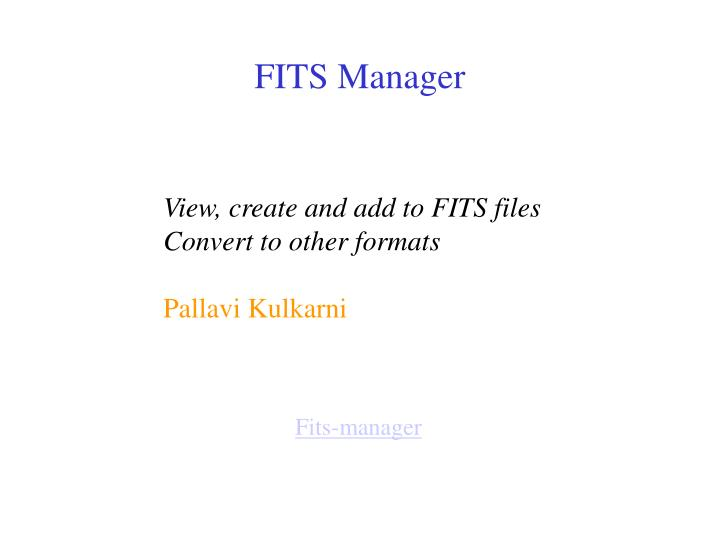 FITS Manager