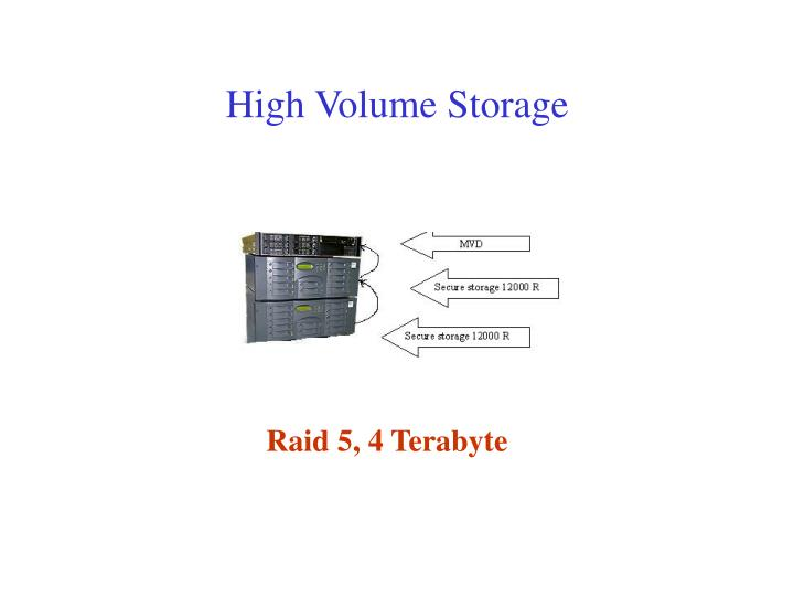 High Volume Storage