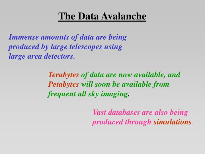 The Data Avalanche
