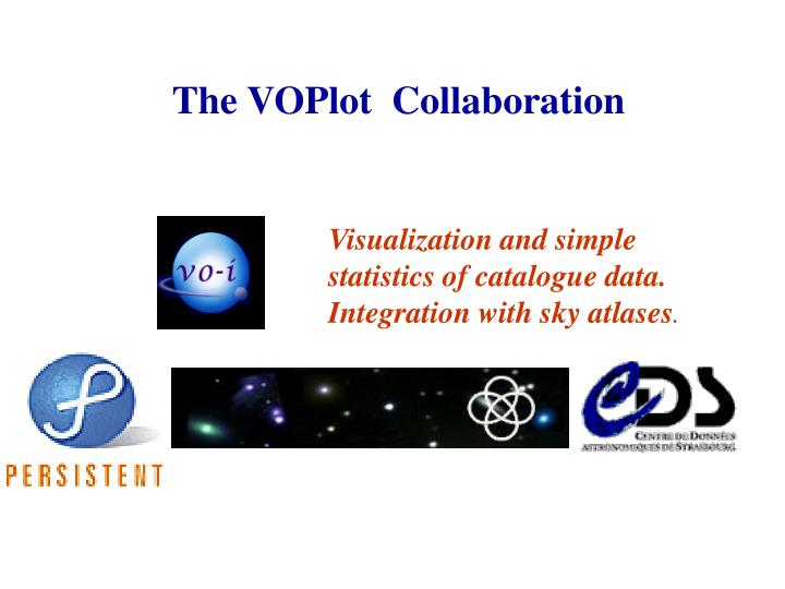 The VOPlot  Collaboration