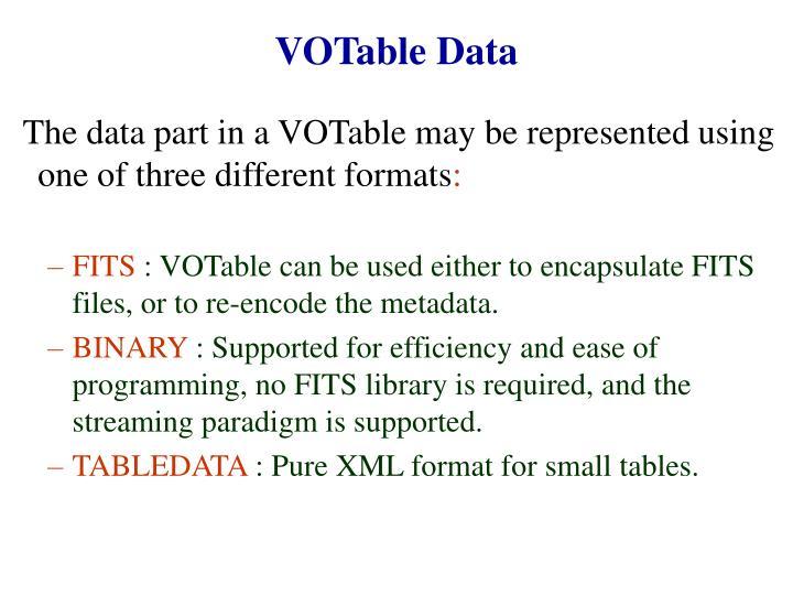 VOTable Data