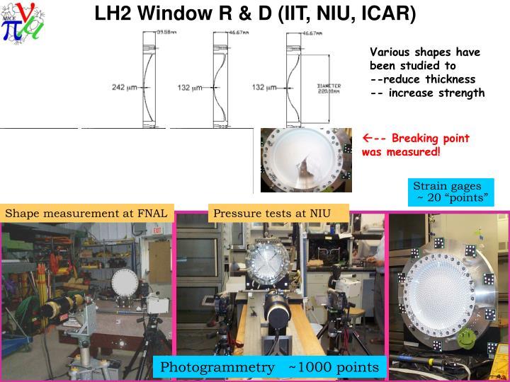 LH2 Window R & D (IIT, NIU, ICAR)