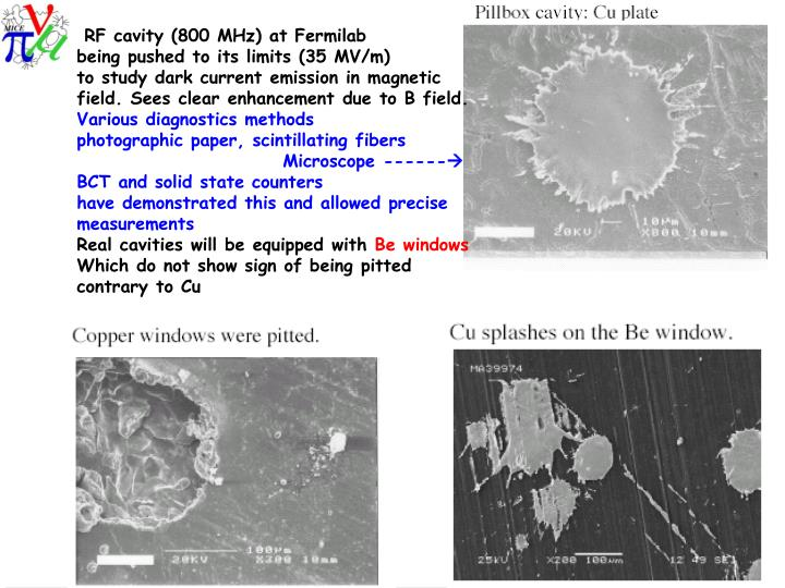 RF cavity (800 MHz) at Fermilab