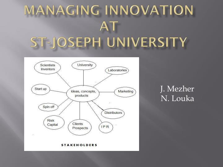 Managing Innovation at