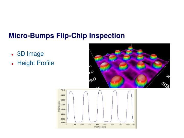 Micro-Bumps Flip-Chip Inspection