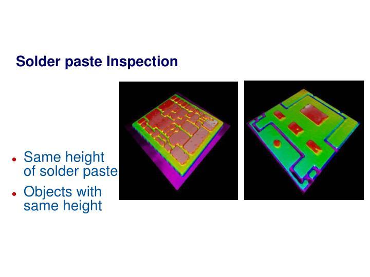 Solder paste Inspection