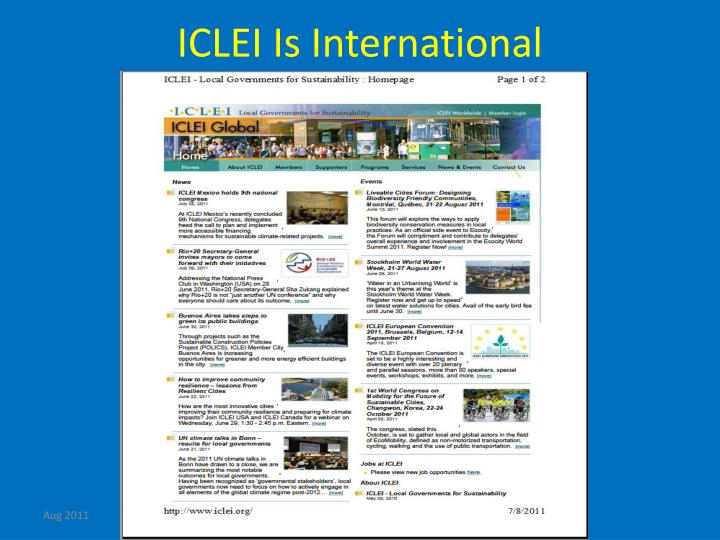 ICLEI Is International