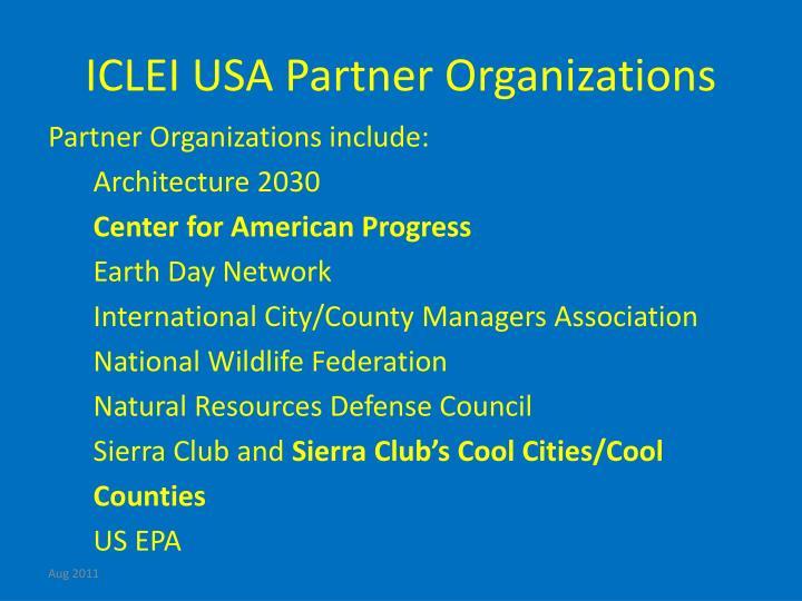 ICLEI USA Partner Organizations