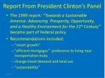 report from president clinton s panel