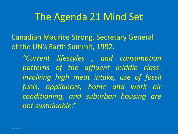 The Agenda 21 Mind Set