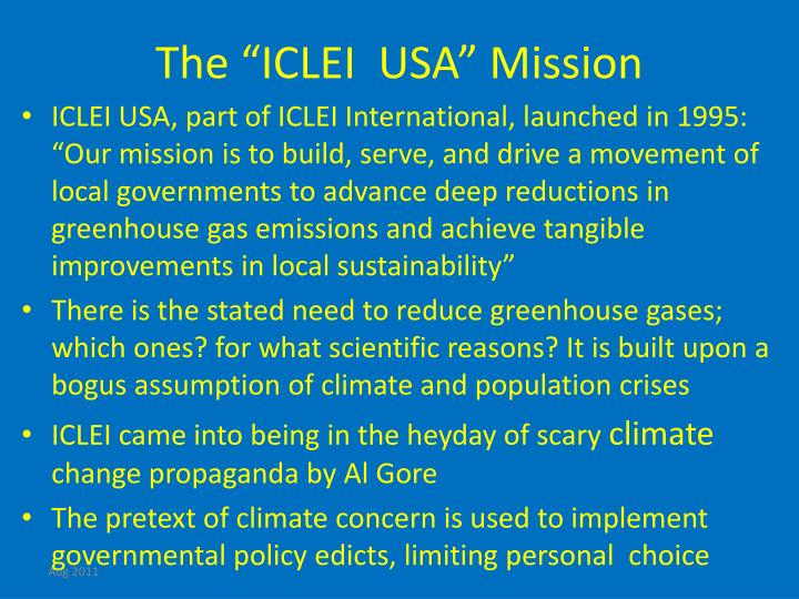 """The """"ICLEI  USA"""" Mission"""