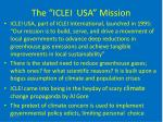 the iclei usa mission