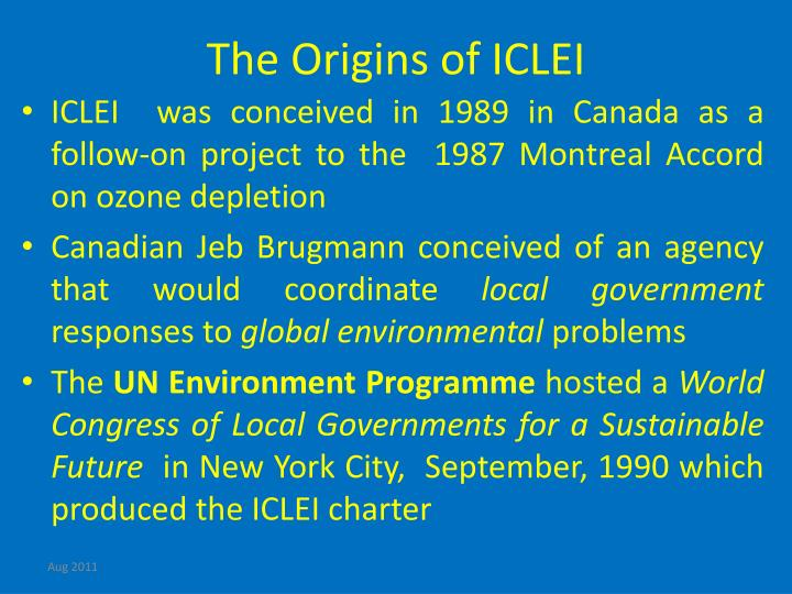 The Origins of ICLEI